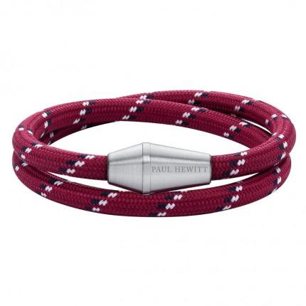 Paul Hewitt CONIC WRAP Armband Edelstahl Nylon Rot Schwarz Weiß PH002799