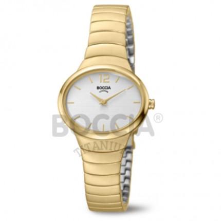 Boccia Titanium Damenarmbanduhr Trend Gold 3280-02