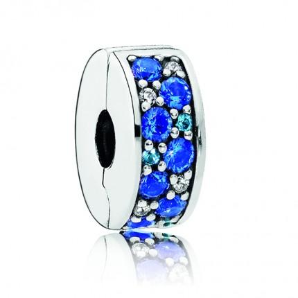 PANDORA Silberelement Blauer Pavé-Glanz 791817NSBMX