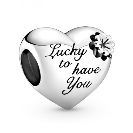 PANDORA Silberelement Heart & Clover 799364C00