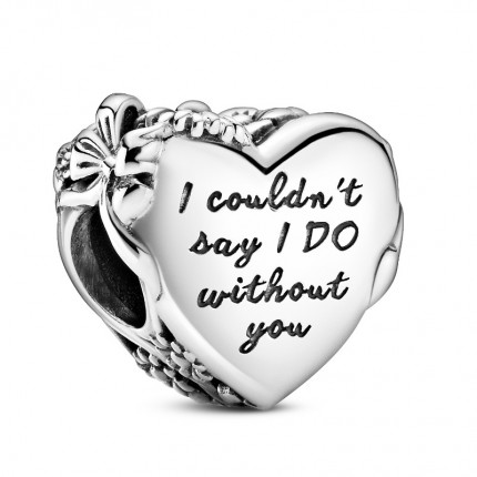 PANDORA Silberelement Flower & Bow Heart 799146C00