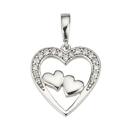 CEM Anhänger Herz Silber Zirkonia BAH904880