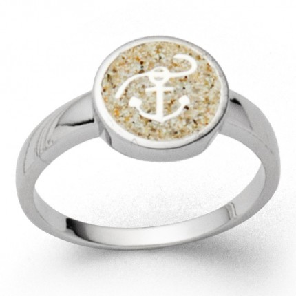 DUR Ring Silber Rhodiniert Hoffnung Strandsand R5580