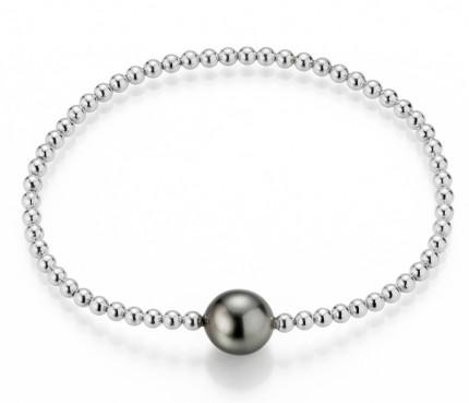 ADRIANA Armband Silber Rhodiniert Tahitiperle PR4-75