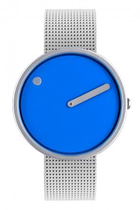 PICTO Armbanduhr Unisex Edelstahl Blau Meshband 43380-0820