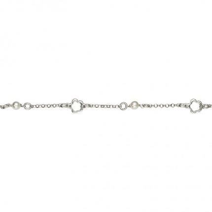 CEM Armband Silber Blüte Perle Imitation BAS96304/20
