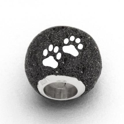 DUR Anhänger Silber Bead Lucky Dog Lavasand P3414