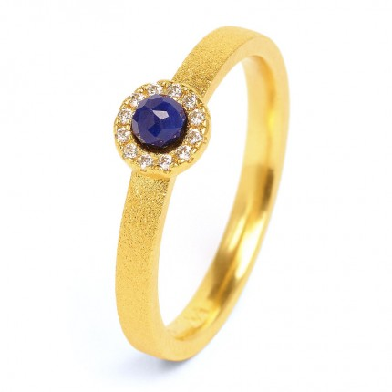 BERND WOLF Ring Silber Goldplattiert TISSY Lapislazuli 52217236