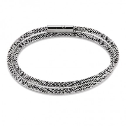 COEUR DE LION Armband Mesh Versilbert & Emaille Silber 0111/31-1700