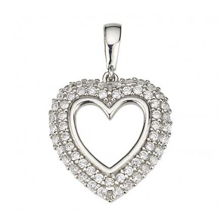 CEM Anhänger Herz Silber Zirkonia BAH904876