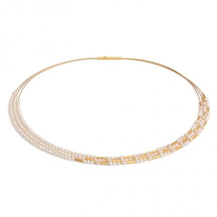 BERND WOLF Collier CLIA Silber Goldplattierung Süßwasserzuchtperle 85231656-43