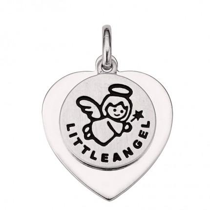 CEM Anhänger Silber Rhodiniert Gravurplatte Herz Schutzengel BAH905411
