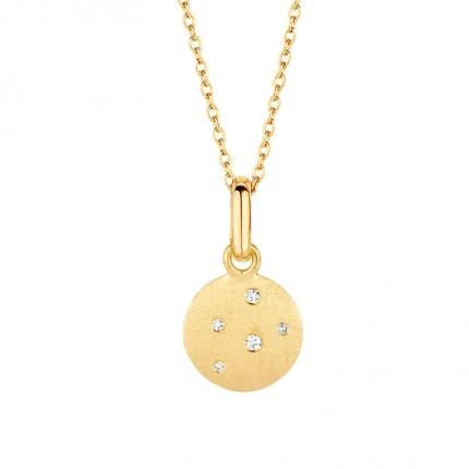 SPIRIT ICONS Collier Stardust Silber Vergoldet Zirkonia 10412-45