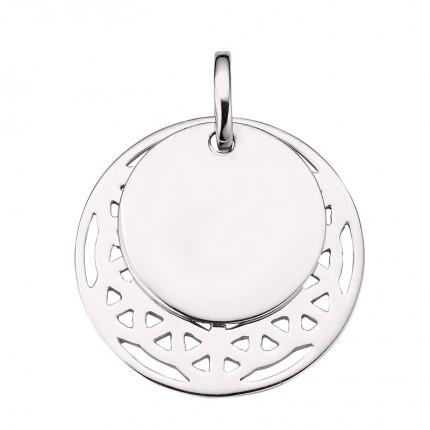 CEM Anhänger Silber Rhodiniert Gravurplatte Muster BAH905410