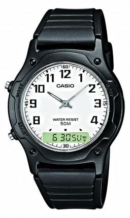 Casio Armbanduhr Collection Analog Digital Schwarz AW-49H-7BVEF