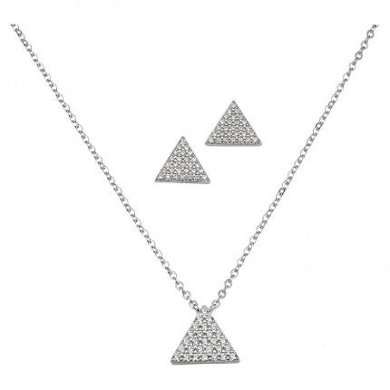 CEM Schmuckset Silber Dreieck BGT906216
