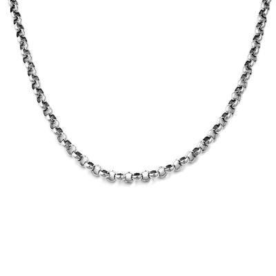 DUR Erbskette Silber Rhodiniert K2309