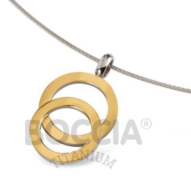 Boccia Anhänger Titan Gold 07021-02