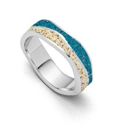 DUR Ring Silber Rhodiniert Steinsand R5105