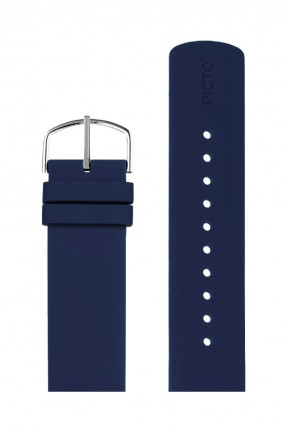PICTO Wechselband Silikon Navy Blue 20mm 0520S