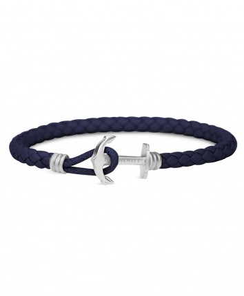 Paul Hewitt PHREPS Lite Armband Leder Edelstahl Marineblau PH-PHL-L-S-N