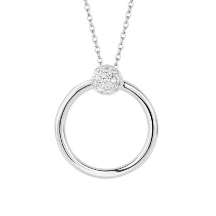 SPIRIT ICONS Collier Perfection Silber Zirkonia 10401-45