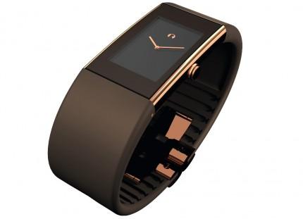 ROSENDAHL Armbanduhr Watch II Large Edelstahl Roségold Polyurethan Braun 43166