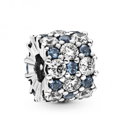 PANDORA Silberelement Blue & Clear Sparkle 798487C02