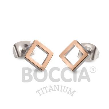 Boccia Ohrschmuck Titan Roségold 05022-03