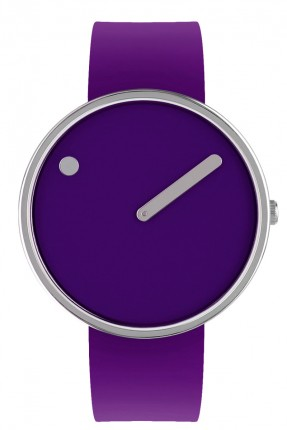 PICTO Armbanduhr Unisex Edelstahl Silikonband Lila 43399-3520S