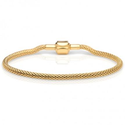 Bering Armband Edelstahl Milanaise Gold 613-20-X0
