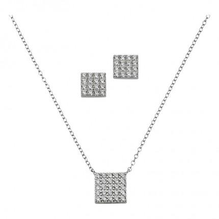 CEM Schmuckset Silber Viereck BGT906210
