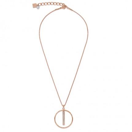 COEUR DE LION Collier Ring Pavé Roségold 5001/10-1800