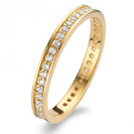 SPIRIT ICONS Ring Chic 2mm Silber Vergoldet 53072