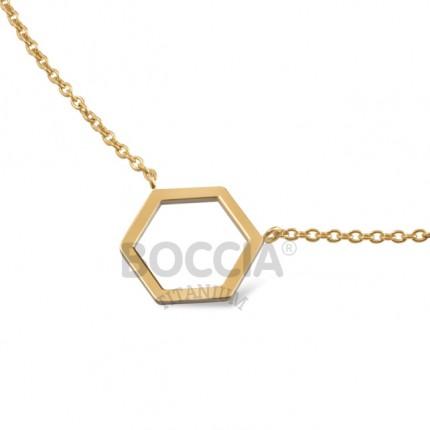Boccia Collier Titan Hexagon Gold 08014-02