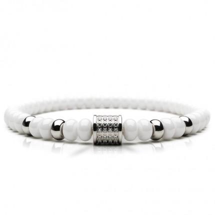 Bering Armband Edelstahl Ceramic Weiß Zirkonia 603-5117-X