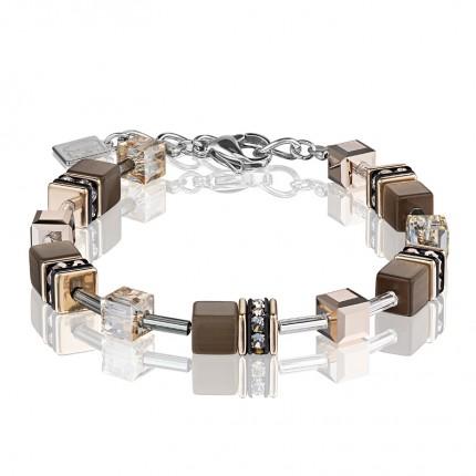 COEUR DE LION Armband Geo Cube Braun 4016/30-1100