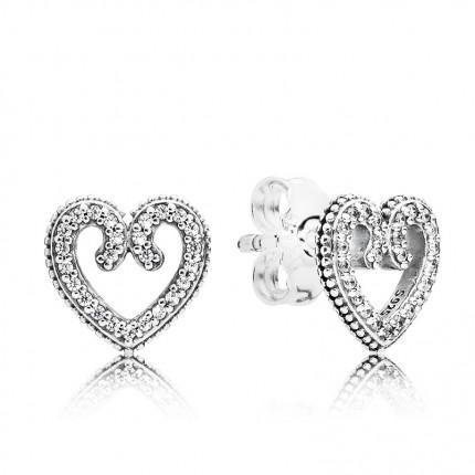 PANDORA Ohrschmuck Silber Heart Swirls 297099CZ