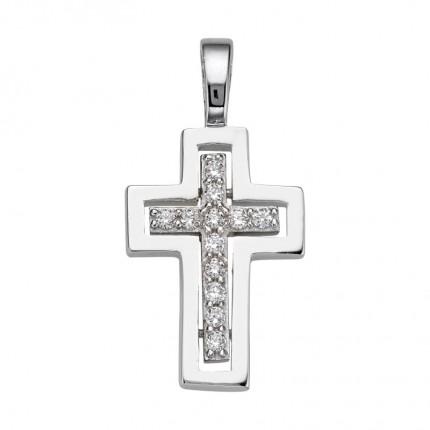 CEM Anhänger Kreuz Silber Zirkonia BAH905059