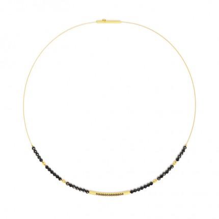 BERND WOLF Collier SENBO Silber Goldplattierung Spinell 84101496-43
