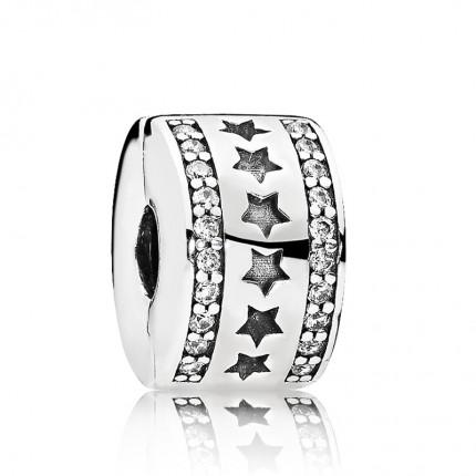 PANDORA Silberelement Clip Sternenformation 796381CZ