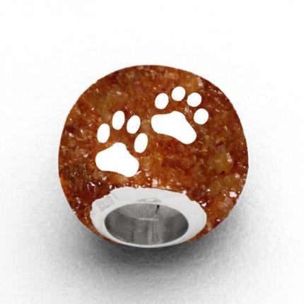 DUR Anhänger Silber Bead Lucky Dog Bernsteinsand P3548