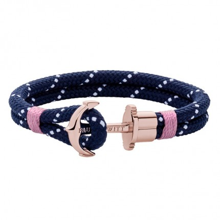 Paul Hewitt PHREPS Armband Nylon Roségold Marineblau Rosa PH002318