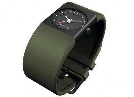 ROSENDAHL Armbanduhr Watch IV Small Edelstahl Schwarz Polyurethan Grün 43263