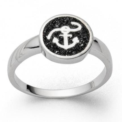 DUR Ring Silber Rhodiniert Hoffnung Lavasand R5581