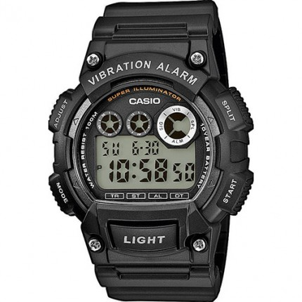 Casio Armbanduhr Collection Schwarz Vibrationsalarm W-735H-1AVEF