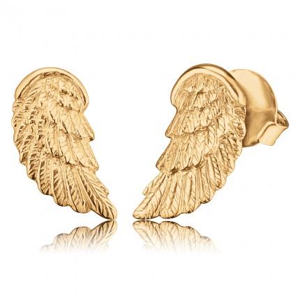 Engelsrufer Ohrstecker Flügel Silber vergoldet ERE-WING-STG