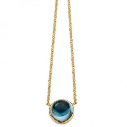 CEM Collier 333/- Gold Blautopas G3-00350C
