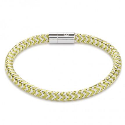COEUR DE LION Armband Metall Geflochten Grün Silber 0116/31-0517