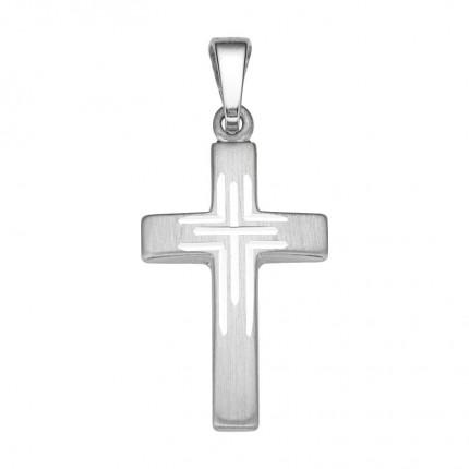 CEM Anhänger Kreuz Silber BAH905050